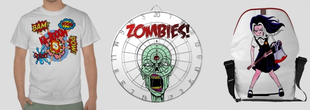 15% off sale zombie geek graphic tees fashion bags