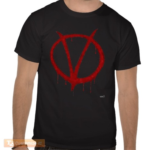 V for victory vendetta T-shirt