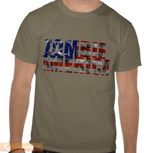 zombie america t-shirt