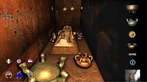 Real-time rendering of the inner chamber of the tomb, showing the sarcophagus of an Etruscan princess and her funerary goods. COURTESY CNR-ITABC, ROME.
