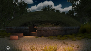 Virtual reconstruction of the exterior of the Regolini-Galassi tomb, 7th century B.C. COURTESY CNR-ITABC, ROME.