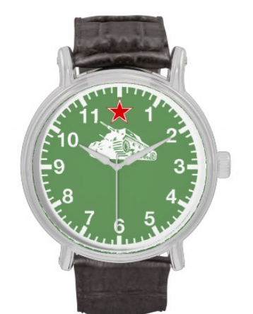 Soviet Russian Military Tank Watch
